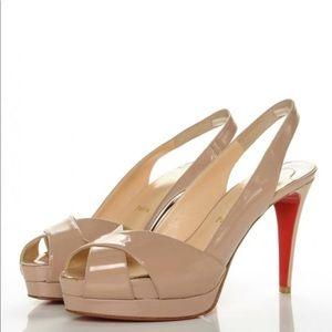 Soso 100 Slingback Peep Toe Sandals Pumps Stiletto